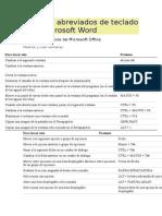 Métodos Abreviados de Teclado Para Microsoft Word