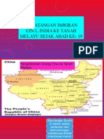 Kedatangan Imigran Cina, India Ke Tanah Melayu