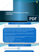 decreto supremo 013-2013 Vivienda