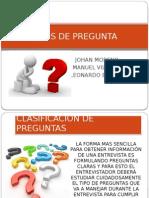 TIPOS de PREGUNTA Analisis y Diseño de Bases de Datos
