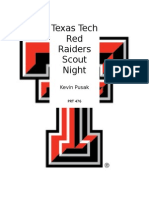 Texas Tech Football Scout Night