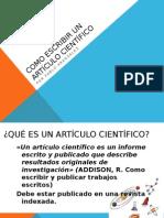 Como Escribir Un Articulo Científico