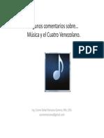 Algunos Comentarios Sobre…Música y El Cuatro Venezolano.