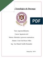 Impermeabilizantes (fundamentos de la invesitgacion)