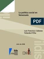 La Politica Social en Venezuela