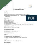 FAQ Derivatives