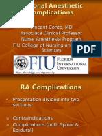Regional Anesthetic Complications Vgc07