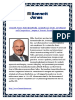 Bennett Jones Milos Barutciski International Trade Investment and Competition Lawyer at Bennett Jones Toronto