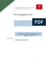 Especificaciones Tanque Valle Rubi