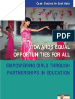UNGEI Case Studies in East Asia Towards Equal Opportunities for All Empowering Girls Through Partnerships in Education
