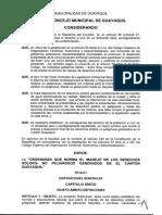 23-12-2010. Ordenanza Que Norma El Manejo de Los Desechos Sólidos No Peligrosos Generados en El Cantón Guayaquil. PDF