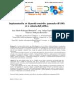 Implementación de Dispositivos Móviles Personales (BYOD)