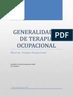 generalidades de terapia ocupacional