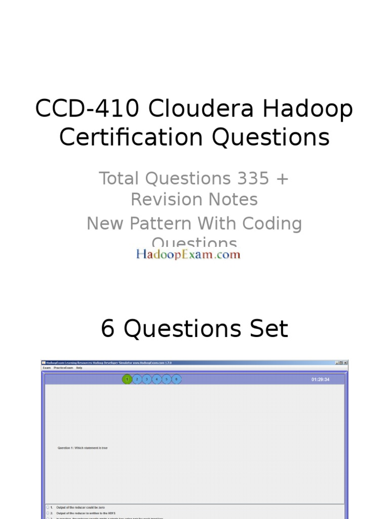 Ccd 410 Cloudera Hadoop Certification Questions 1