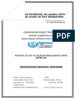 IGNOU MTM 16 Dissertation/ thesis. Tourism Potential in Lahul Spiti