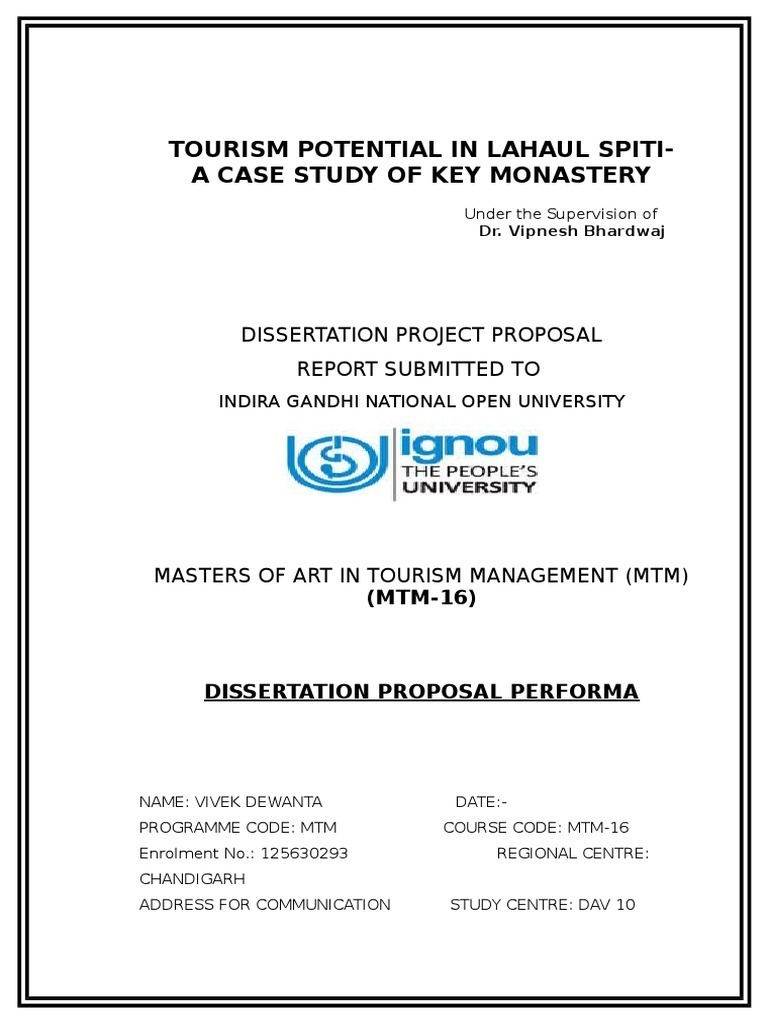 ignou mtm dissertation sample