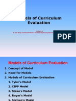 Models of Curriculum Evaluation