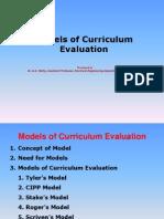 Models of Curriculum Evaluation