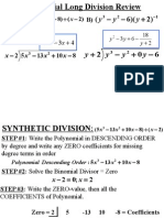 Roots of Polynomials Synthetic Division U4