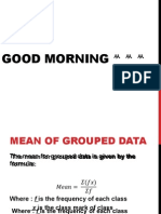 Mean of Grouped Data by eae