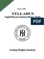 Syllabus Class XII (PCMBE)