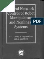 Lewis_Jagannathan_Yesildirek - Neural Network Control 1999