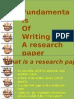 Fundamental of Writing a Research Proposal