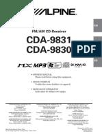 Alpine CDA9830 SERVICE MANUAL