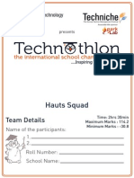 Technothlon 2014 Hauts(en)