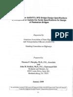 AASHTO Ped Bridge Guide Spec 2010 Draft 200901