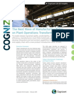 The Next Wave of Manufacturing Relies on Plant Operations Transformation