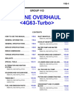4G63 Turbo Engine Overhaul Manual GR00003400-11D