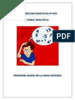 Trabajo Refuerzo Matematicas 2 ESO