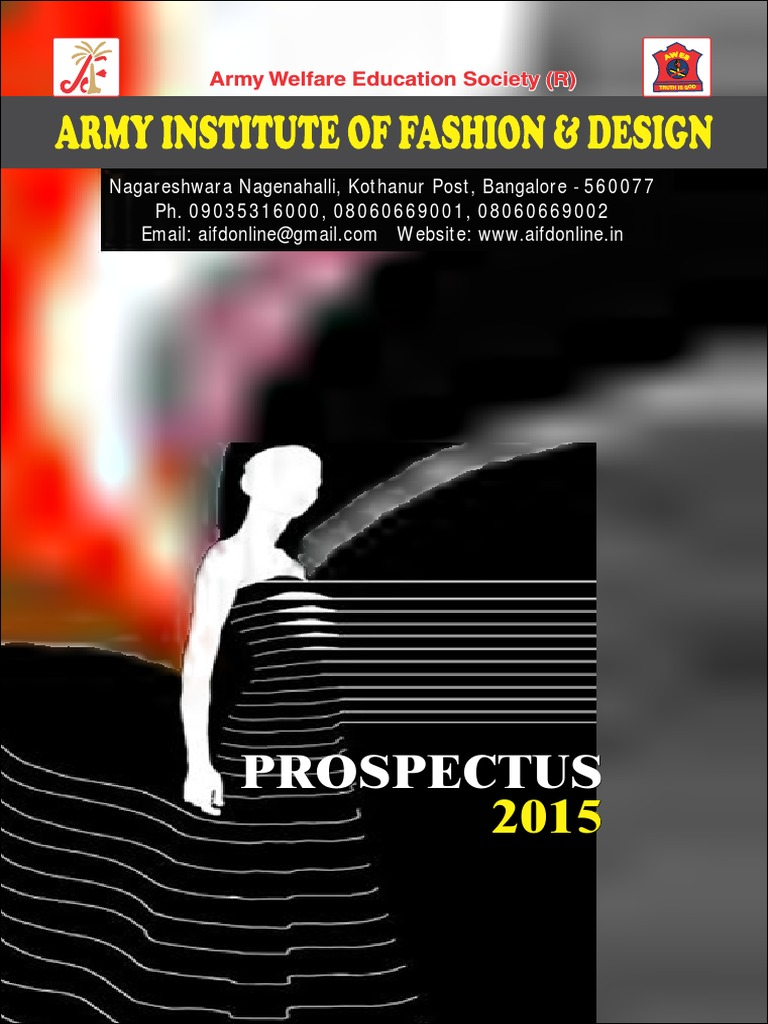 Aifd Prospectus 2015 Fashion Design Fashion