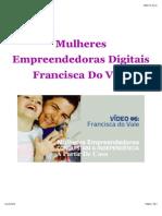 Mulheres Empreendedoras Digitais - Francisca Do Vale