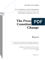 The Process of Constitutional Change