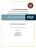 Final Report on Inventory Management