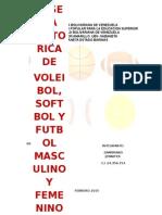 Reseña Historica Del Futbol Masculino y Femenino