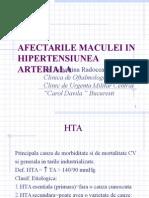 Afectarile Maculei in Hipertensiunea Arteriala