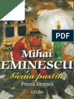 Eminescu Mihai. Geniu Pustiu (Tabel Crono)