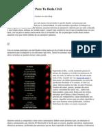5 Poemas De Amor Para Tu Boda Civil
