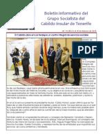 Boletín del Grupo Socialista del Cabildo de Tenerife 113. 9 - 15 de febrero 2015
