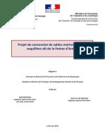 Projet de concession de sables marins calcaires coquilliers dit de la Pointe d'Armor