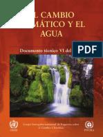 El cambio climático y su incidencia en la Hidrología - Reporte cientifico de la IPCC