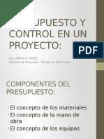 Presupuesto y Control en Un Proyecto