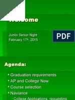 junior senior parent night feb 17th 2015 updated revision
