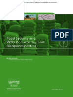 Food Security and WTO Domestic Support Disciplines Post-Bali