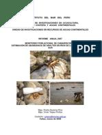 Evaluación de camaron de rio