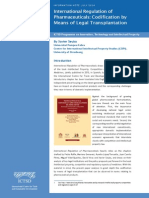 International Regulation of Pharmaceuticals Codification by Means of Legal Transplantation