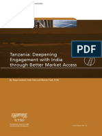 Tanzania - Deepening Engagement With India Through Better Market Access